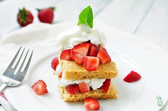 Honey Sweetened Whole Wheat Strawberry Shortcake