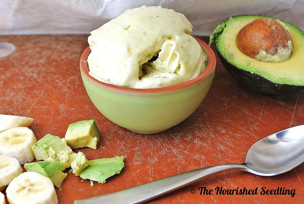 avocado and banana ice cream