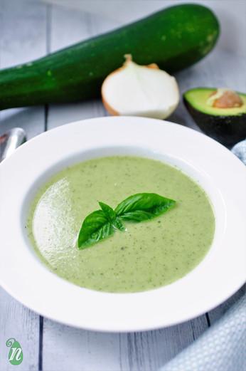 Creamy Zucchini and Avocado Soup