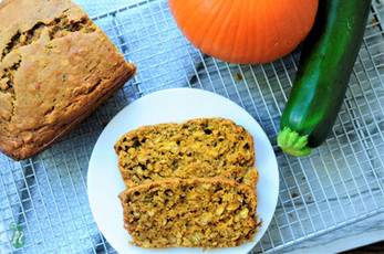 Zucchini and Pumpkin Spice Oat Bread