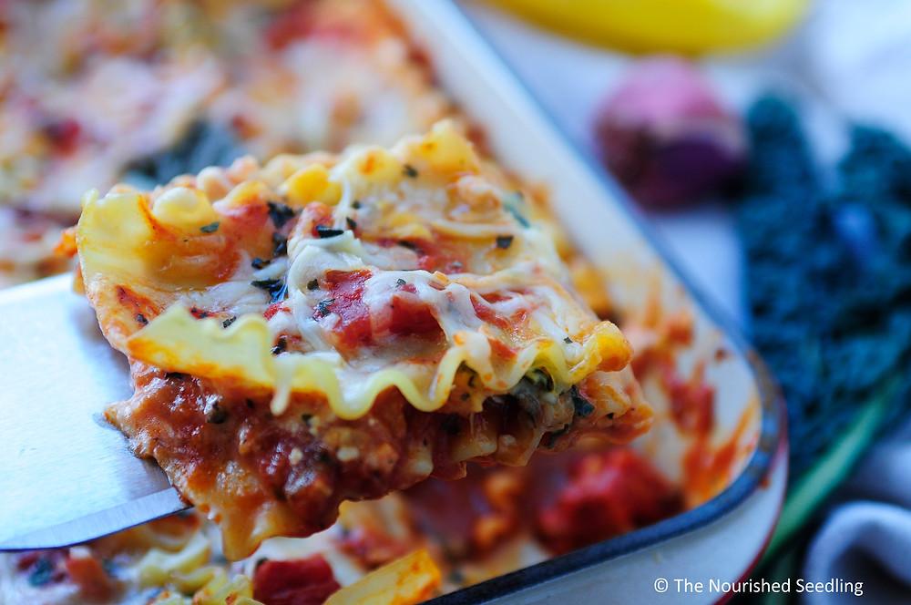 healthy-spaghetti-squash-and-kale-lasagna