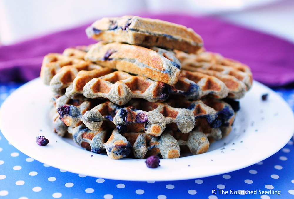 healthy-chia-seed-blueberry-waffles