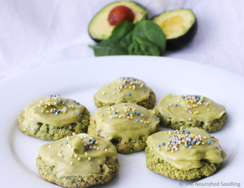 Spinach Sugar Cookies with Avocado Frosting