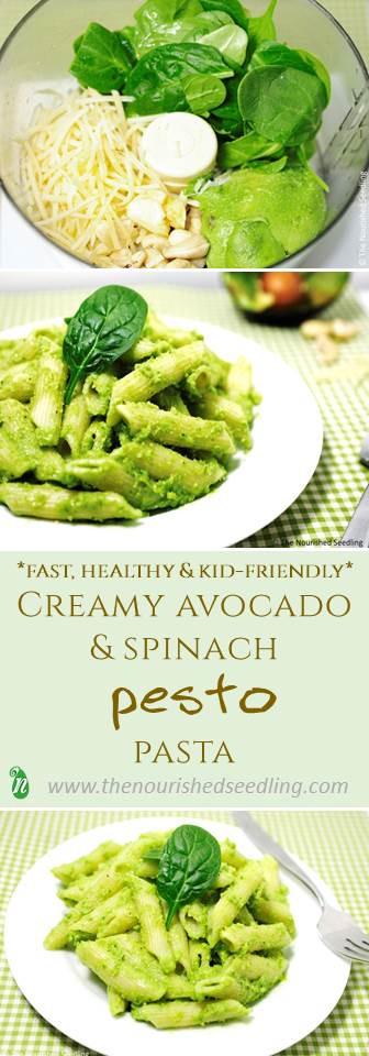 healthy-avocado-spinach-pesto-pasta