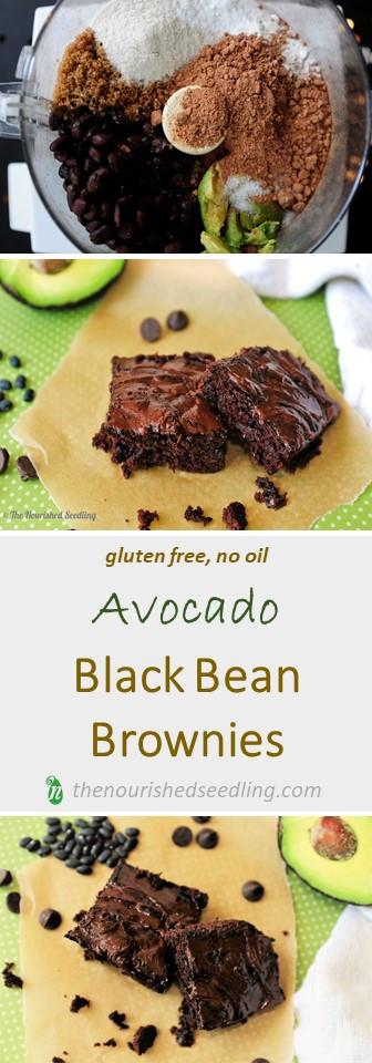 avocado black bean brownies