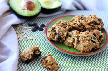 Avocado Oat Chocolate Chip Cookies