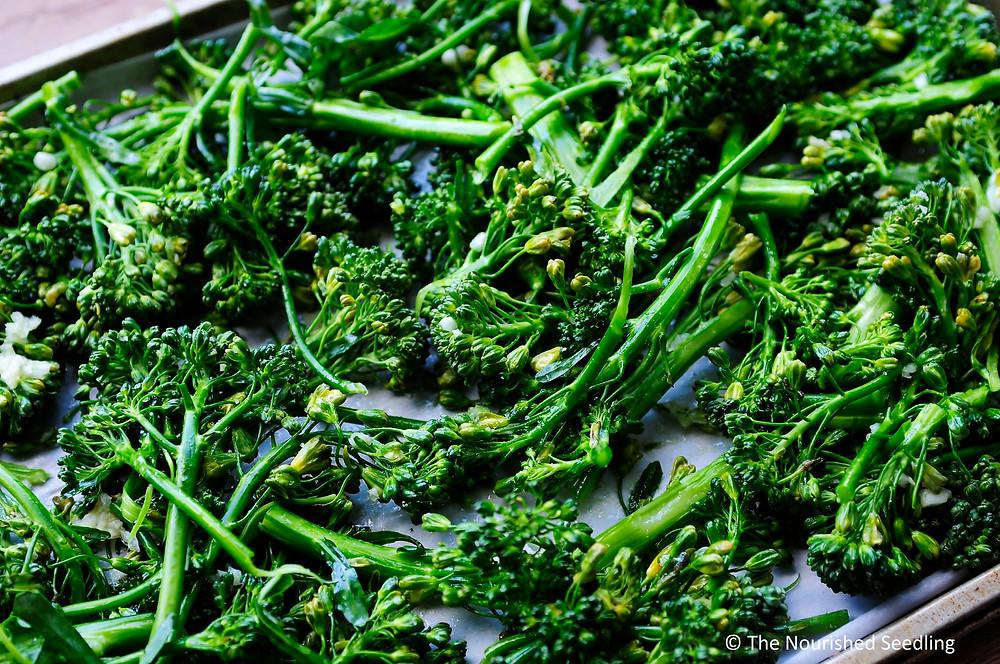 garlic roasted broccolini