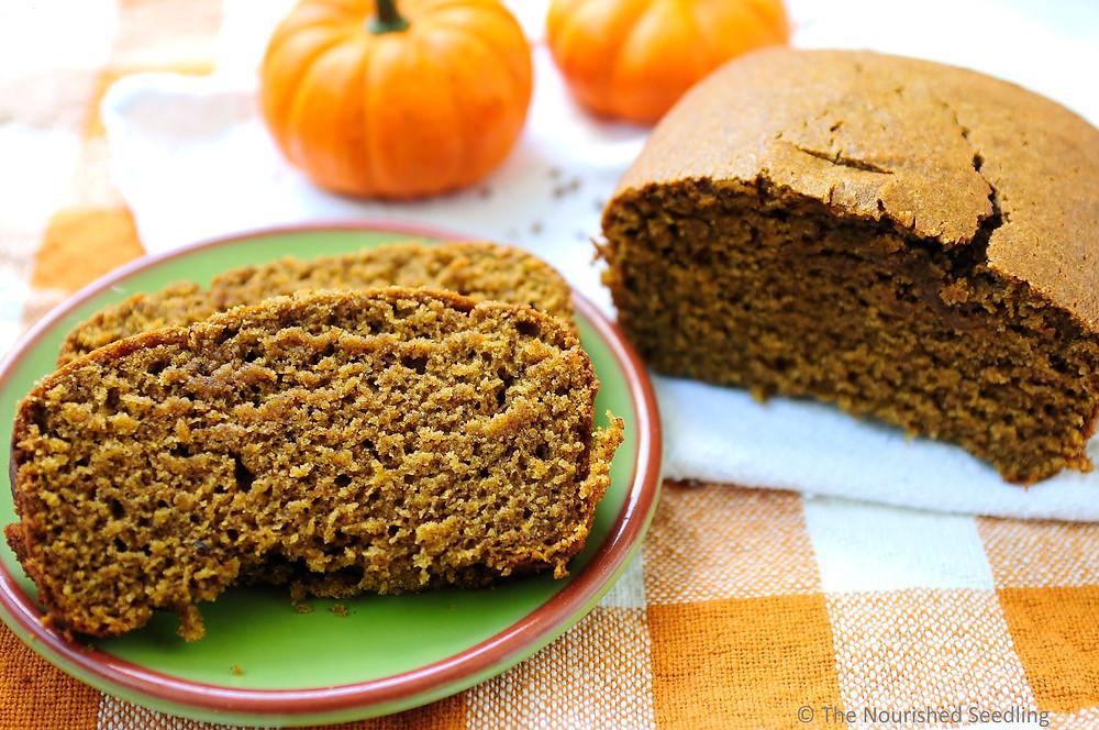healthy whole wheat pumpkin spice bread