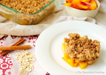 Quinoa Peach Crumble
