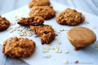 Crunchy Quinoa and Oat Peanut Butter Cookies