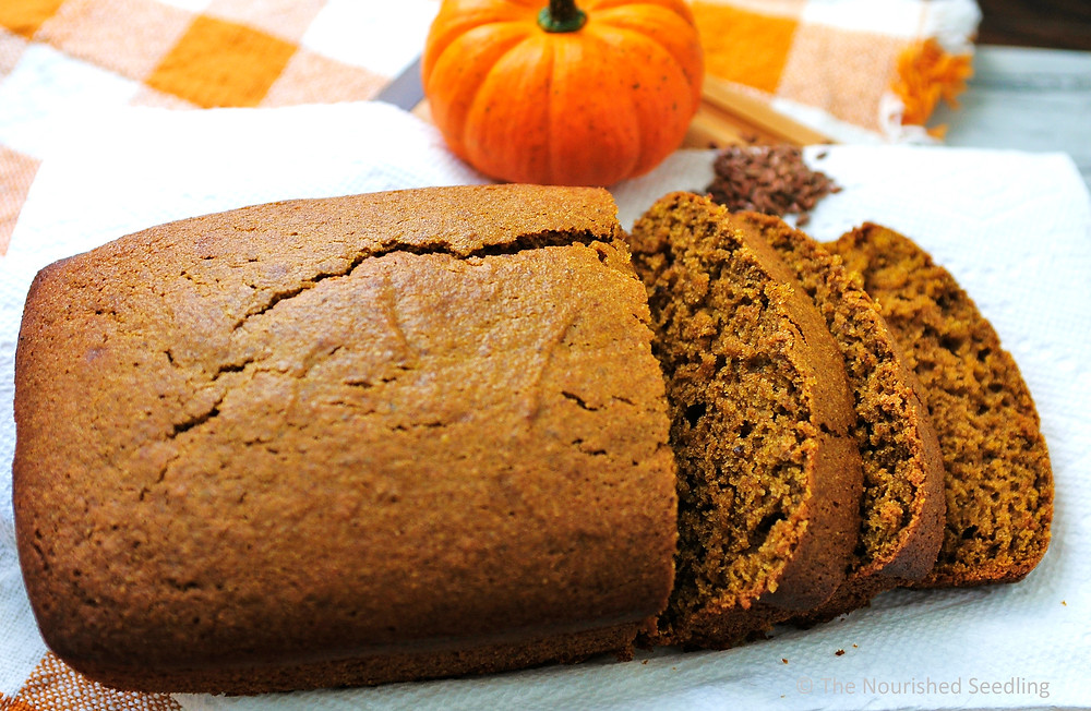 healthy pumpkin spice bread