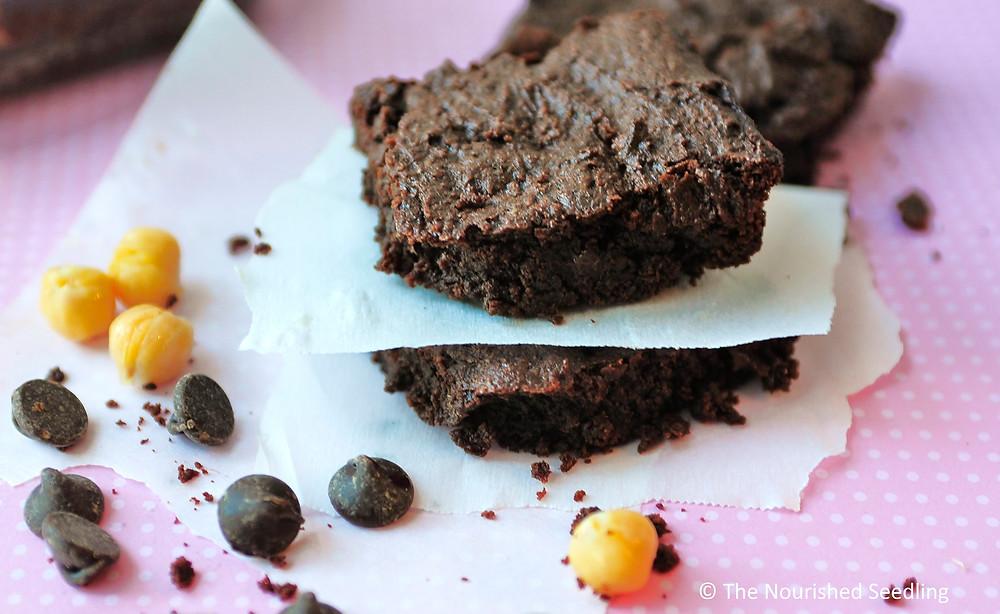 vegan chickpea brownies