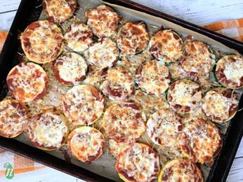 Easy Zucchini Squash Pizzas