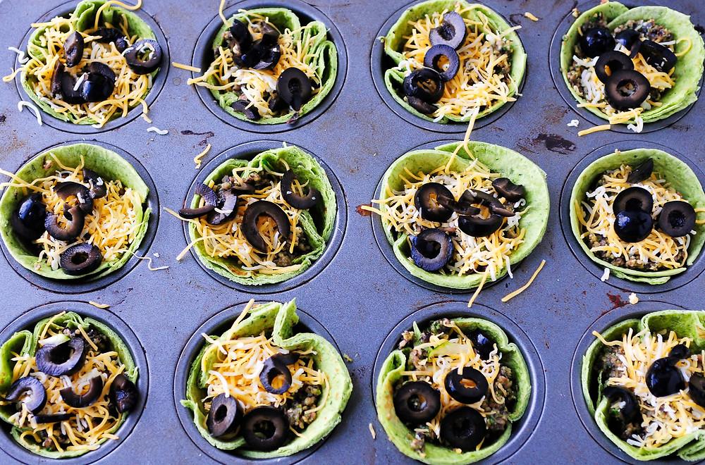 veggie and black bean burrito cups