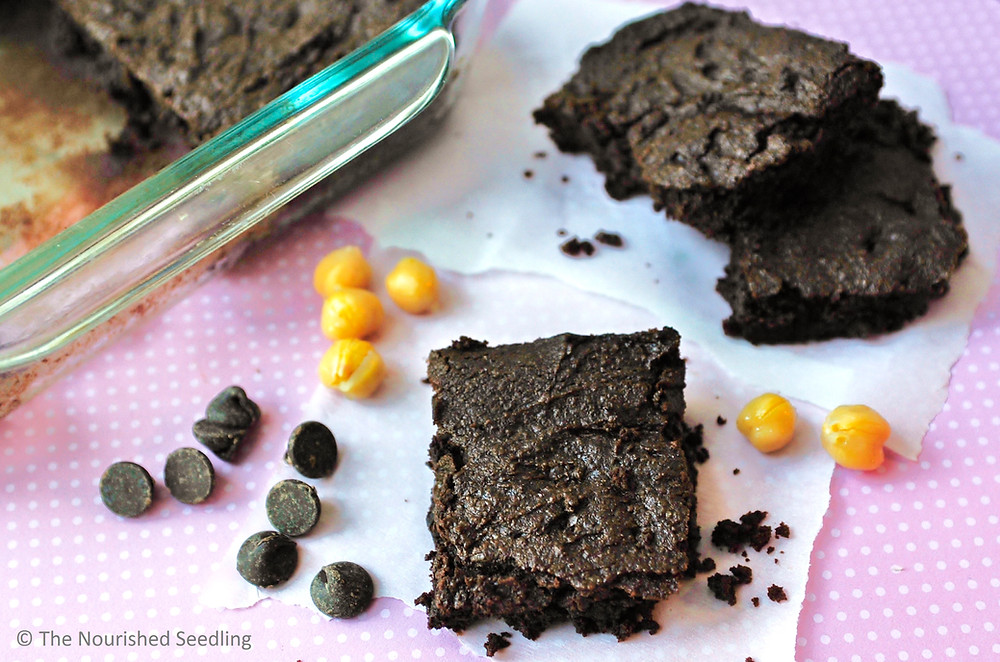 gluten free chickpea brownies