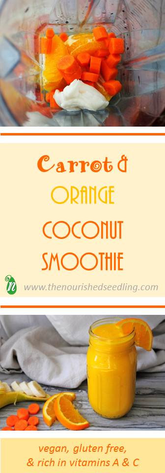 vegan carrot and orange coconut smoothie