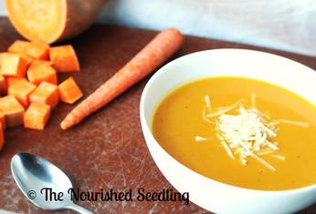 Roasted Sweet Potato & Carrot Soup
