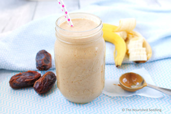 Banana and Date Peanut Butter Smoothie (or Popsicle)