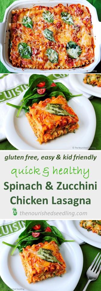 zucchini and spinach chicken lasagna