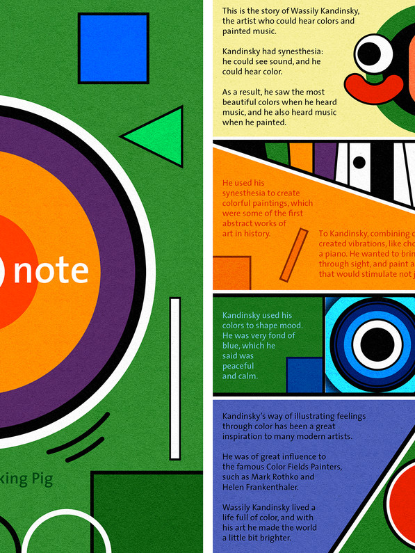 Illustoria #10: Color By Note - the story of Wassily Kandinsky. I did both the writing and the illustrations.