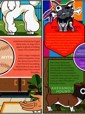 Illustoria #14: Mutts of Myth - a comic showcasing some of the wondrous mythological dogs from around the world. I was responsible for both the writing and the illustrations.