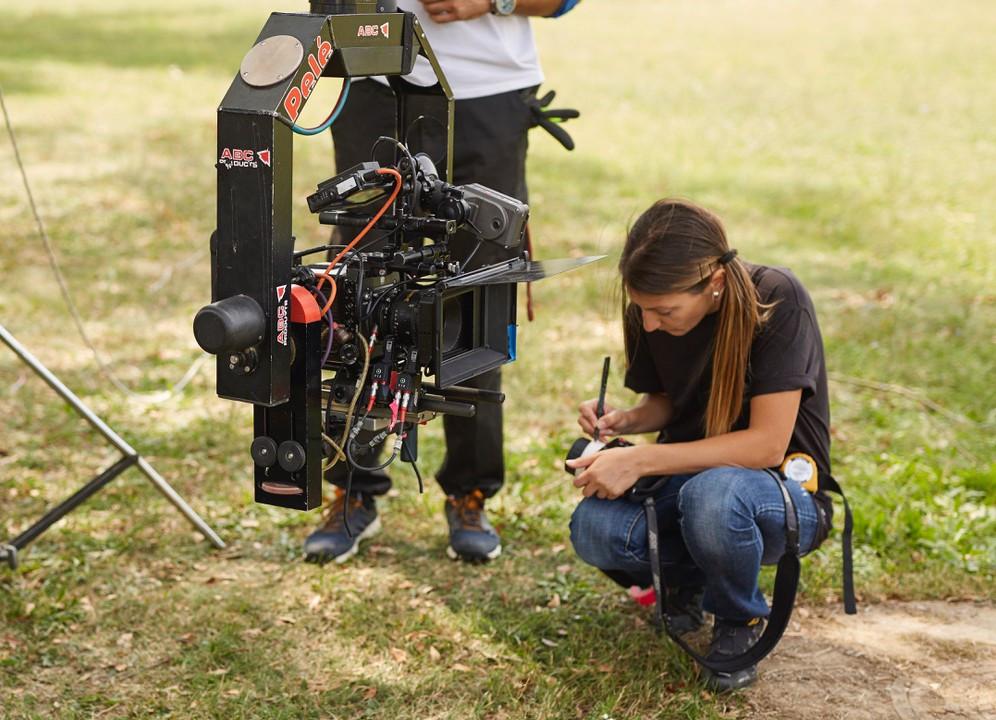 Chicas en rodajes de cine digital