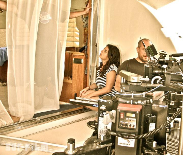 Mujeres trabajando en rodajes de cine