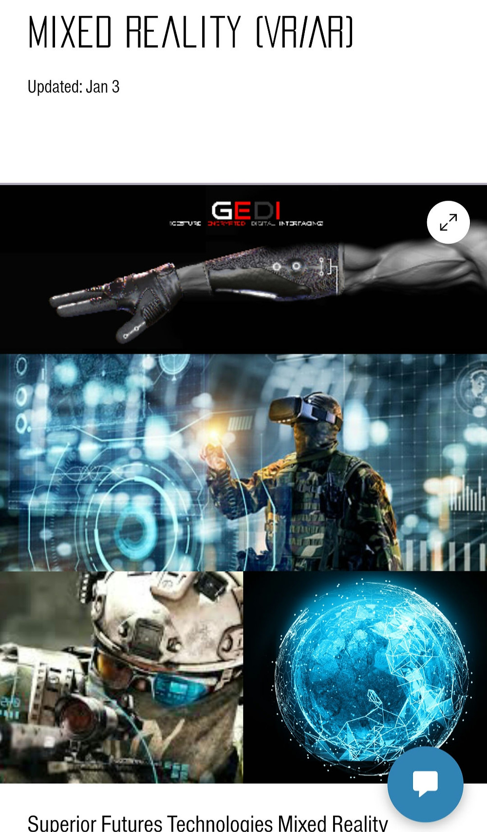 Superior Futures Technologies, Mixed Reality, Virtual Reality, Augmented Reality, Synthetic Training Environment, Simulation, Realism, HoloLens, IVAS, STE CFT, AFC, Army Futures Command