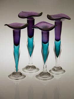 Purple-Teal Candlesticks