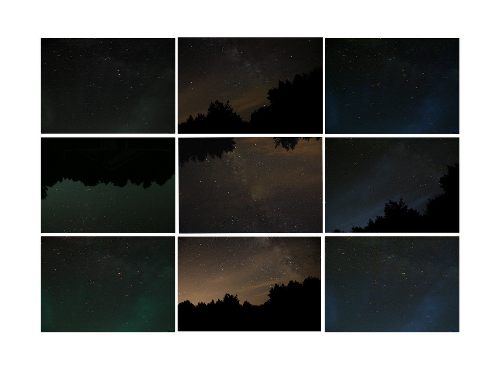 Milky Way Montage (DSLR Photography)