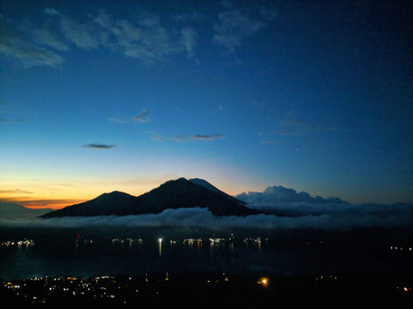 Mount Batur at 4am