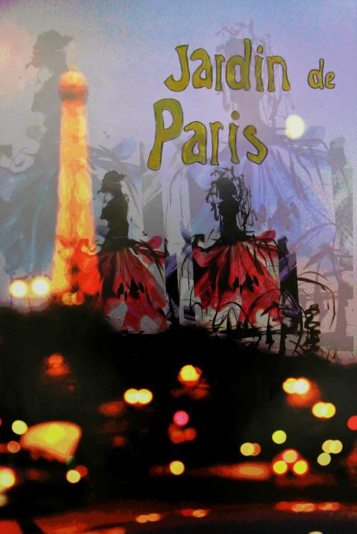Jardin de Paris (Mixed Media Poster)