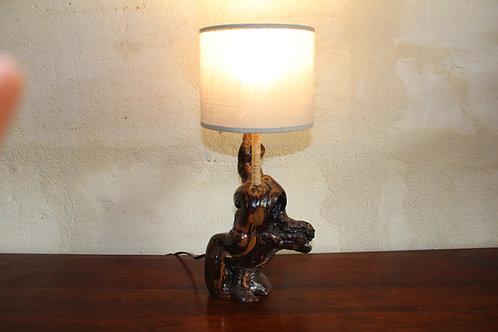 Copie de Lampe sculptée à abajour
