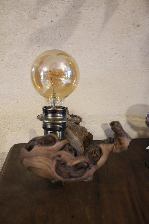 Lampe sculptée ampoule vintage