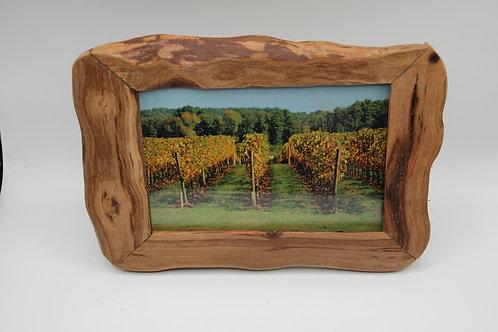 Cadre photo en cep de vigne