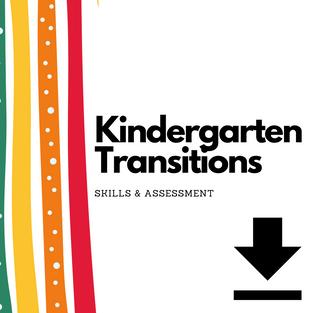 $25   Kindergarte Transition Guide / Skill Assessment