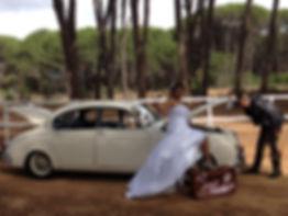 Old timer wedding car