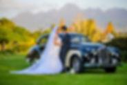 Our vintage car in action in Stellenbosch