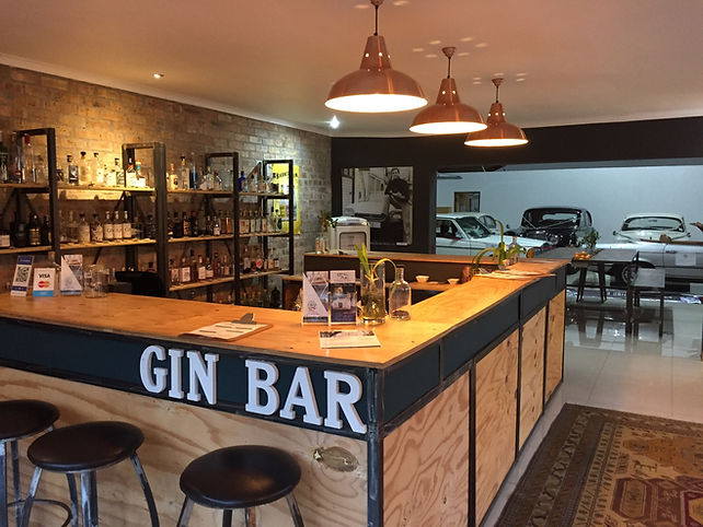 Craft gin bar in Stellenbosch