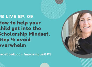Scholarship mindset series, Step 4: avoid The Grade 12 Overwhelm
