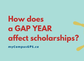 How does a gap year affect scholarships?