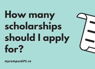 How many scholarships should I apply for?