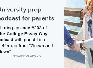 University prep podcast for parents