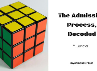 The Admission Process Decoded*  *...kind of