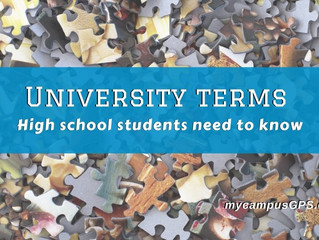 University terms high school students need to know