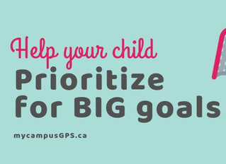 Help your child to prioritize for big goals