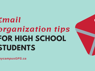 Email organization tips for high school students