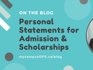 Personal Statements for Admission & Scholarships