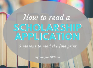 How to read a scholarship application: 3 reasons to read the fine print