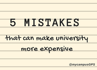5 mistakes that can make university more expensive